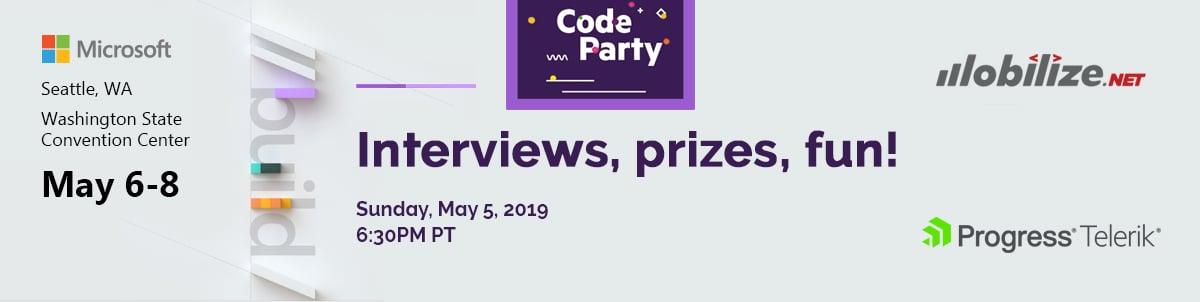 CodePartyBuildSeattle2019at6-30pm