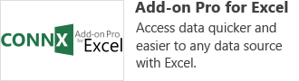 Add-on Pro for Excel - Access data quicker and easier to any data source with Excel