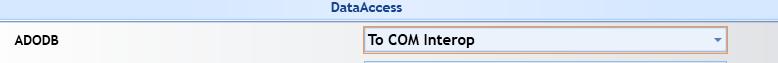 Uograde Option to use classic ADO via COM Iterop