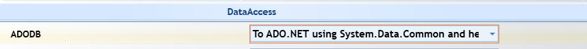 Uograde Option to convert classic ADO to ADO.Net