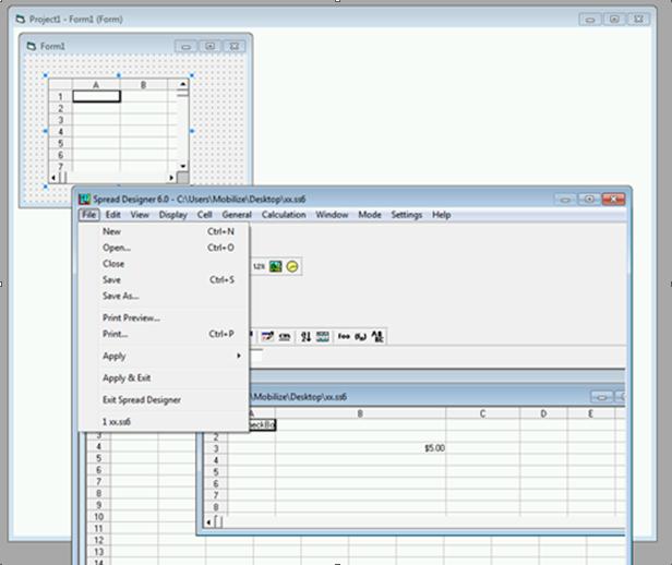 Migrating ActiveX FarPoint Spread Grid Designer
