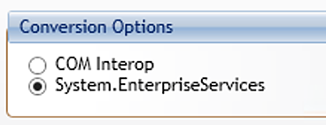 Image of conversion options drop down