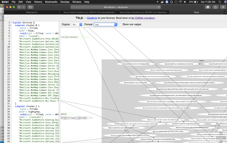 Screenshot of how to paste the graph definition
