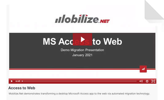 Microsoft Access to Web