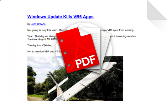Windows Update Kills VB6 Apps