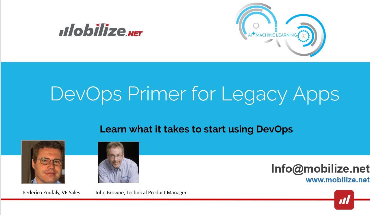 DevOps for legacy code