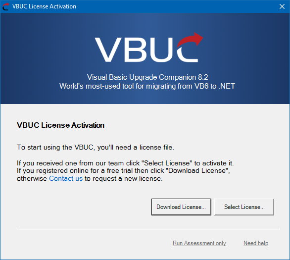 Screenshot of what the VBUC download will look like