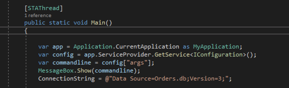Screenshot of how to use the using the Configuration interface I get the arguments