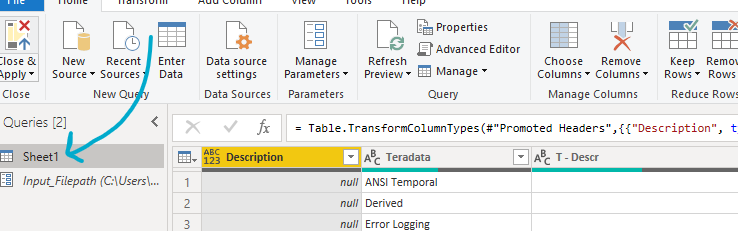 Screenshot of how to change the source of the data in the project to the parameter just created